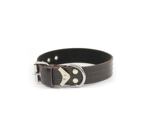 Collar Leather+Nailon 40cm x 50mm