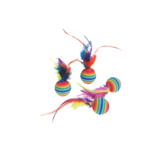 Cat Toy Rainbowballs 4pcs