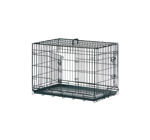 Клетка металлическая с 2 дверками, 109x70x76см, черная