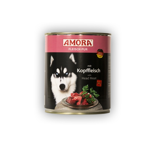Amora Canned Dog Food (Beef Head Meat) 800g