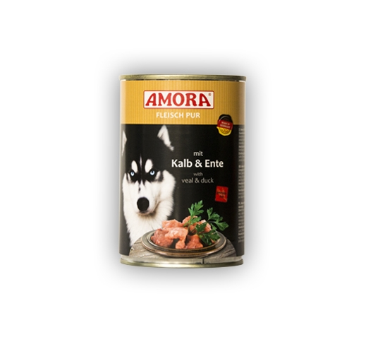 Amora Canned Dog Food (Calf & Duck) 400g