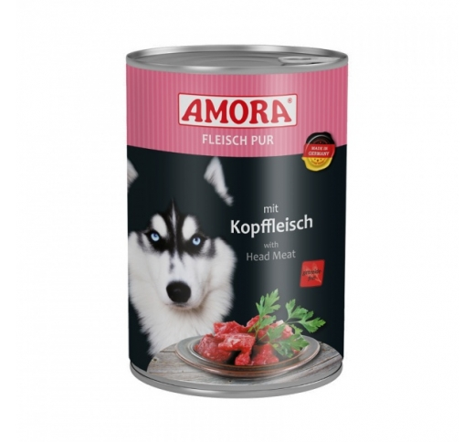 Amora Canned Dog Food (Beef Head Meat) 400g