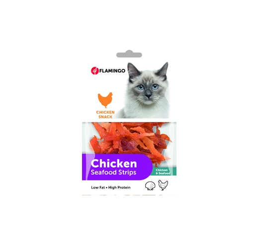 Chicken Seafood Strips for Cats 85g