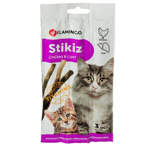 Flamingo StickiZ with Chicken & Liver 3pcs