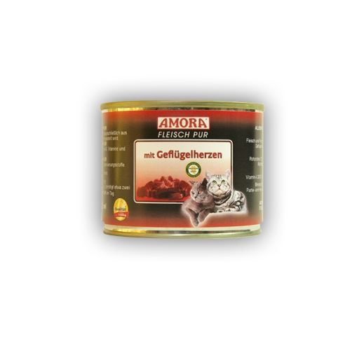 Amora Canned Cat Food (Bird Heart) 200g