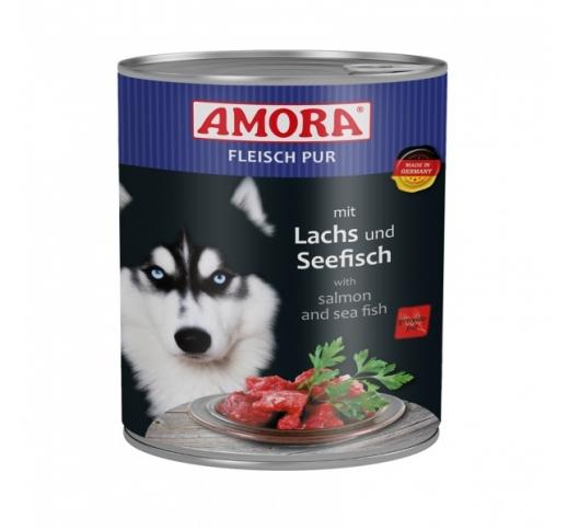 Amora консервы для собак - лосось 800г