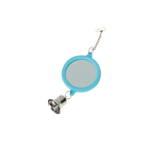 Parakeet Toy Mirror with a Bell Ø6cm