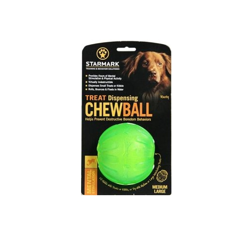 Starmark Treat Dispensing Chewball 90mm