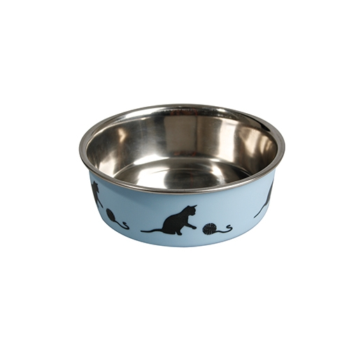 Stainless steel bowl Bella for cats Blue 160ml