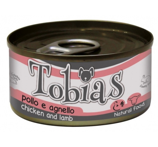 Tobias Canned Dog Food Chicken & Lamb in Water 85g