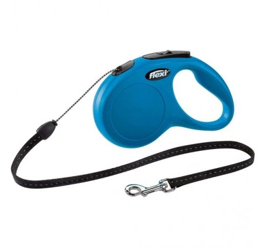 Flexi New Classic S Blue 5m Cord 12kg