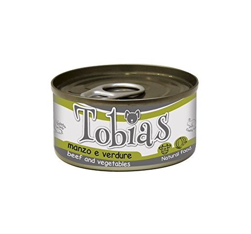 Tobias Canned Dog Food Beef & Vegetables in Water 85g