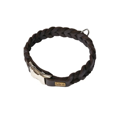 Klin Braided Leather Collar 45cm