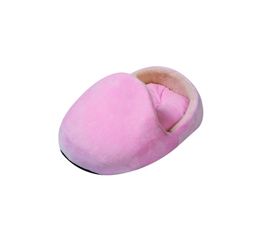 Puppy Basket Pink Slipper 60x50x25cm