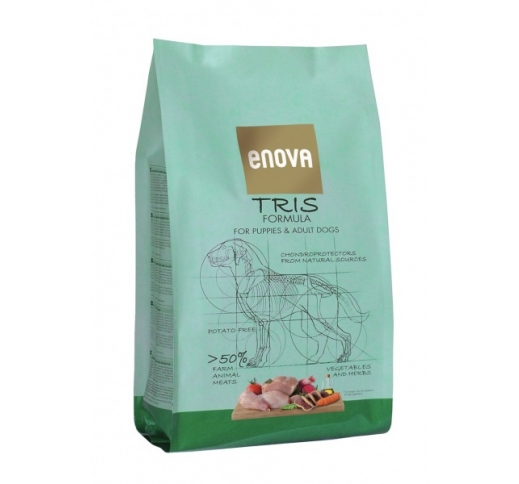 ENOVA Tris Formula Grain Free Dog Food 2kg