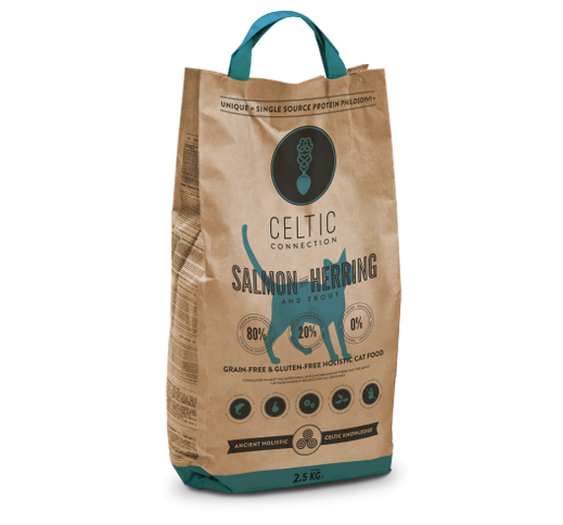Celtic Connection Salmon & Herring for Cats 400g
