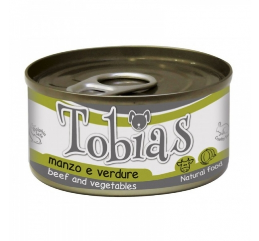 Tobias Canned Dog Food Beef & Vegetables in Water 170g