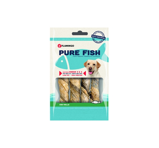 Cod Skin Rolls for Dogs L 85g