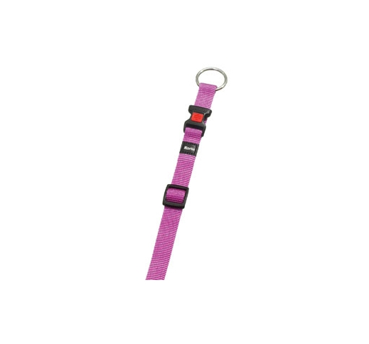 Collar Nylon Pink 20-35cm 10mm