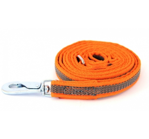 Leash Rubberized BGB Orange 2m x 15mm
