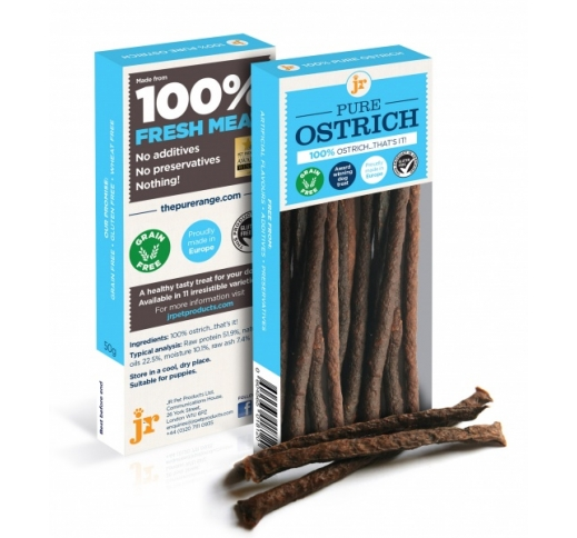 100% JR Pure Ostrich Treats 50g