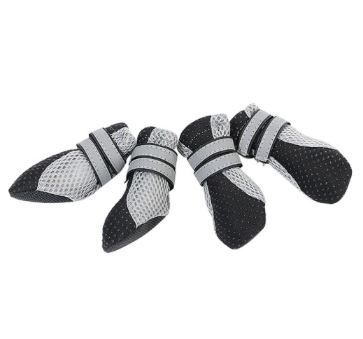 Small Dog Booties Black L