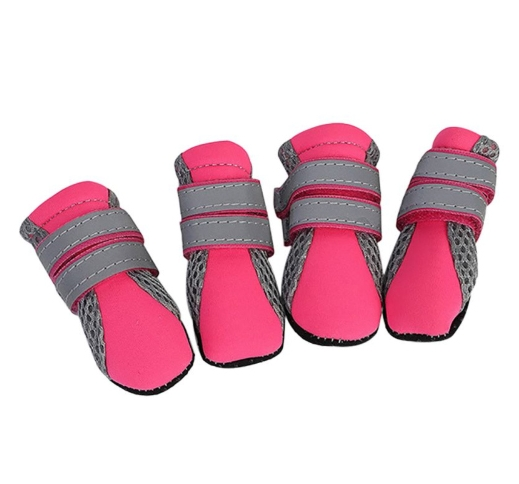 Small Dog Booties Pink S