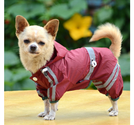 Raincoat for Dogs Red 32cm/L
