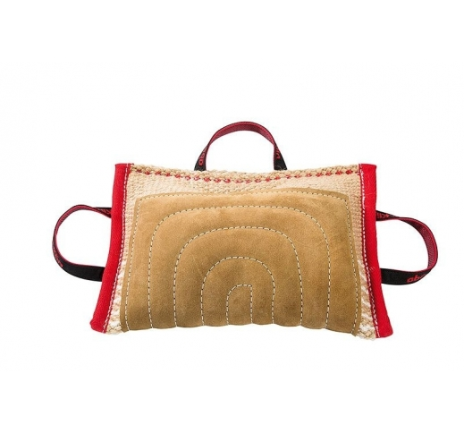 Jute covered bite pad with leather extra padding 37x26cm