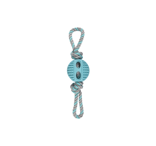 Rubber Ball Drury 6cm with Ropes