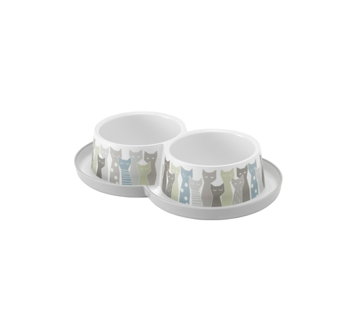 Drink and Food Bowl Maasai Duo 2x350ml