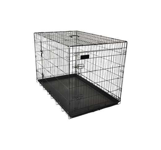 Wire Dog Cage Black 124x76x83cm XXL