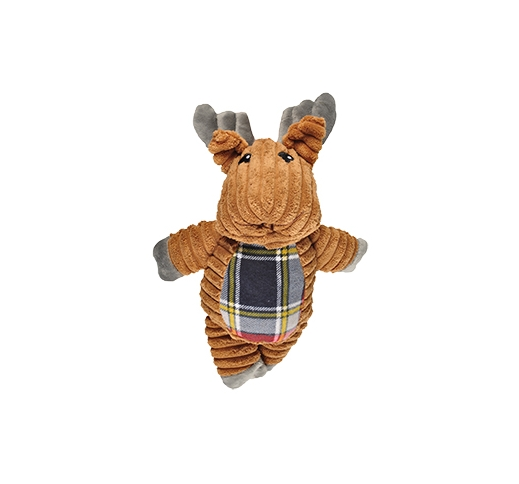 Dog Toy Corduroy Reindeer 23cm with Squeak
