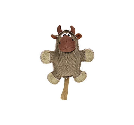 Canvas Cow with Squeaker 23cm