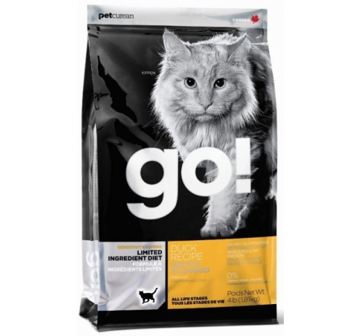 GO! Shine+Sensitivity Holistic Recipe For cats with Duck 1,81kg