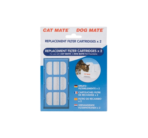 Cat Mate Pet Fountain Filter Cartridges 2pcs