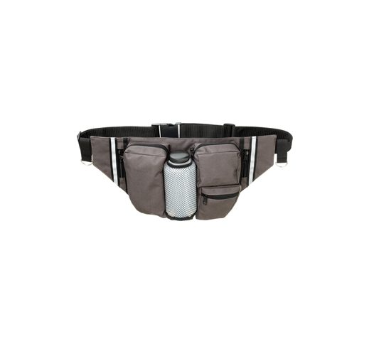 Hip Bag for Hiking with Water Bottle + Foldable Bowl