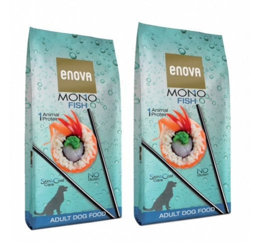 2x Enova Mono Fish Complete Food for Adult Dogs