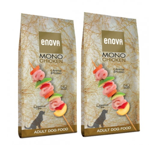 2x Enova Mono Chicken Complete Food for Adult Dogs