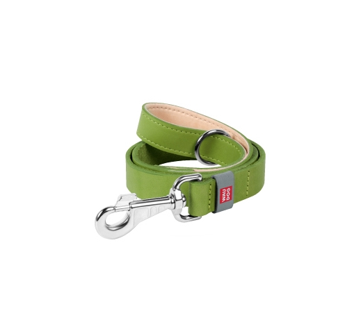 Waudog Classic Leash from Natural Leather Green 122cm
