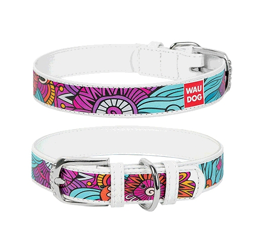 "WAUDOG Collar ""Summer"" 35mm x 46-60cm White"
