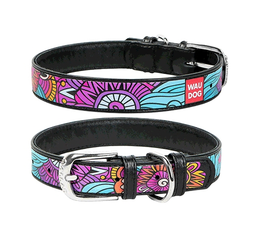 "WAUDOG Collar ""Summer"" 35mm x 46-60cm Black"