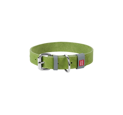 Waudog Classic Collar 25mm x 38-49cm Green