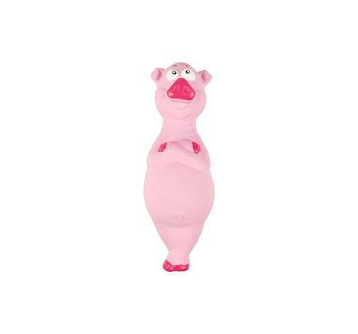 Latex Squeaky Pig 21cm