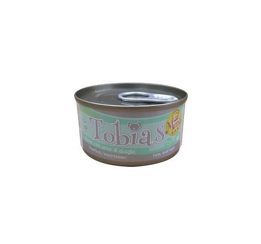 Tobias Menu Canned Dog Food Tuna with Quail eggs 85g