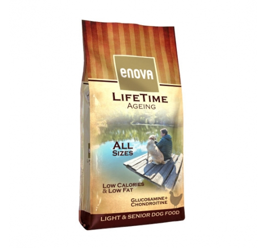 Enova Lifetime Ageing Light & Senior Dog Food 12kg