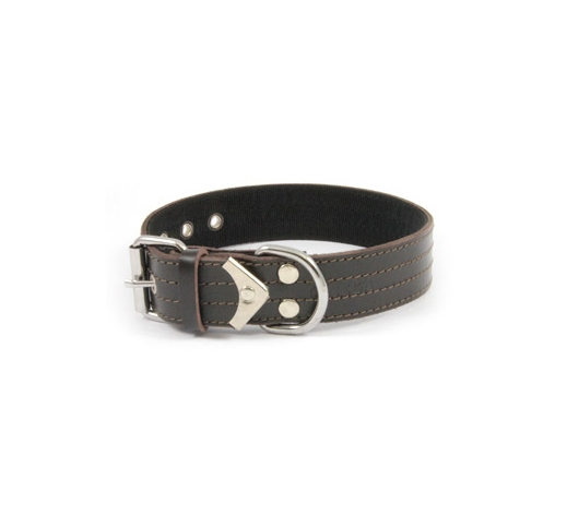 Collar Leather+Nailon 55cm x 40mm