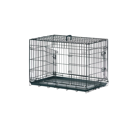 Wire Dog Cage Black 109x70x76cm XL