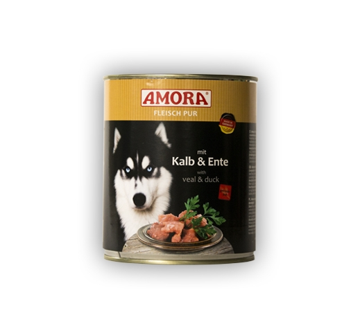 Amora Canned Dog Food (Calf & Duck) 800g