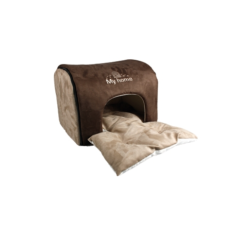 "Dog House ""My Home"" Brown 45x35x30cm"